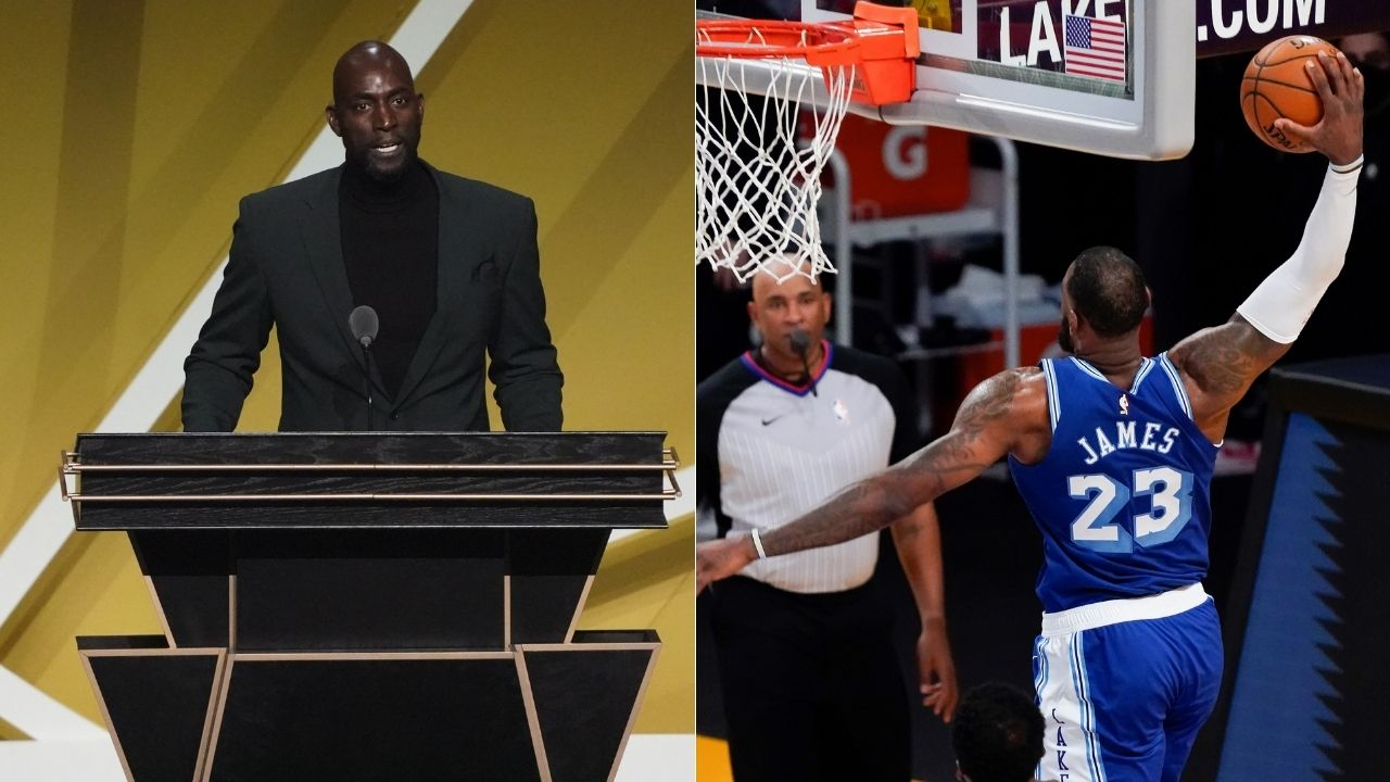 """""""LeBron James with no regard for human life"""": When 24-year old James posterized Celtics legend DPOY Kevin Garnett to an iconic Kevin Harlan call"""