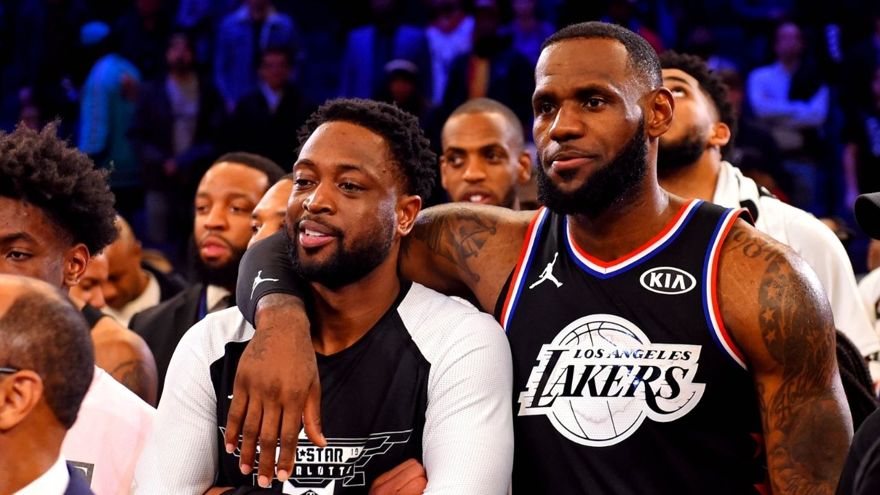 """""""DWYANE WADE WAS AN ABSOLUTE PROBLEM"""": LeBron James hypes up Beijing Olympics version of Heat legend on Twitter"""