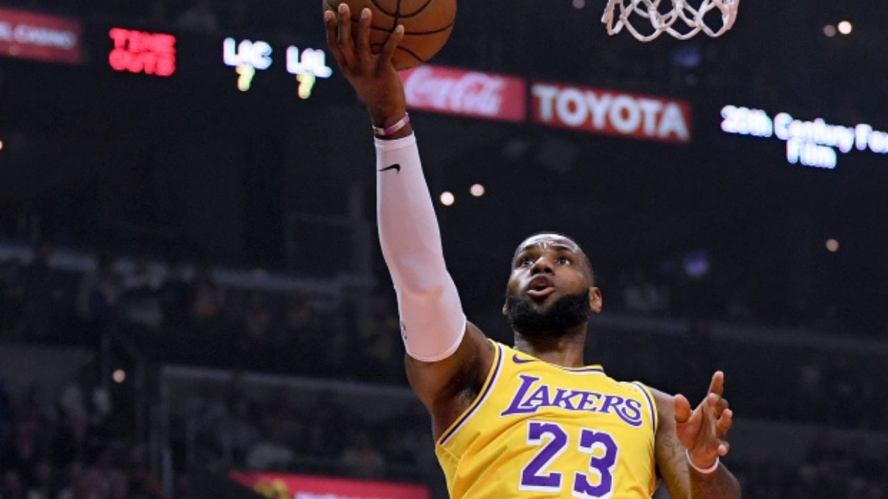 """""""LeBron James made this layup way too easy"""": When the Lakers superstar nonchalantly threw up a Kyrie-esque shot during an NBA All-Star Game"""
