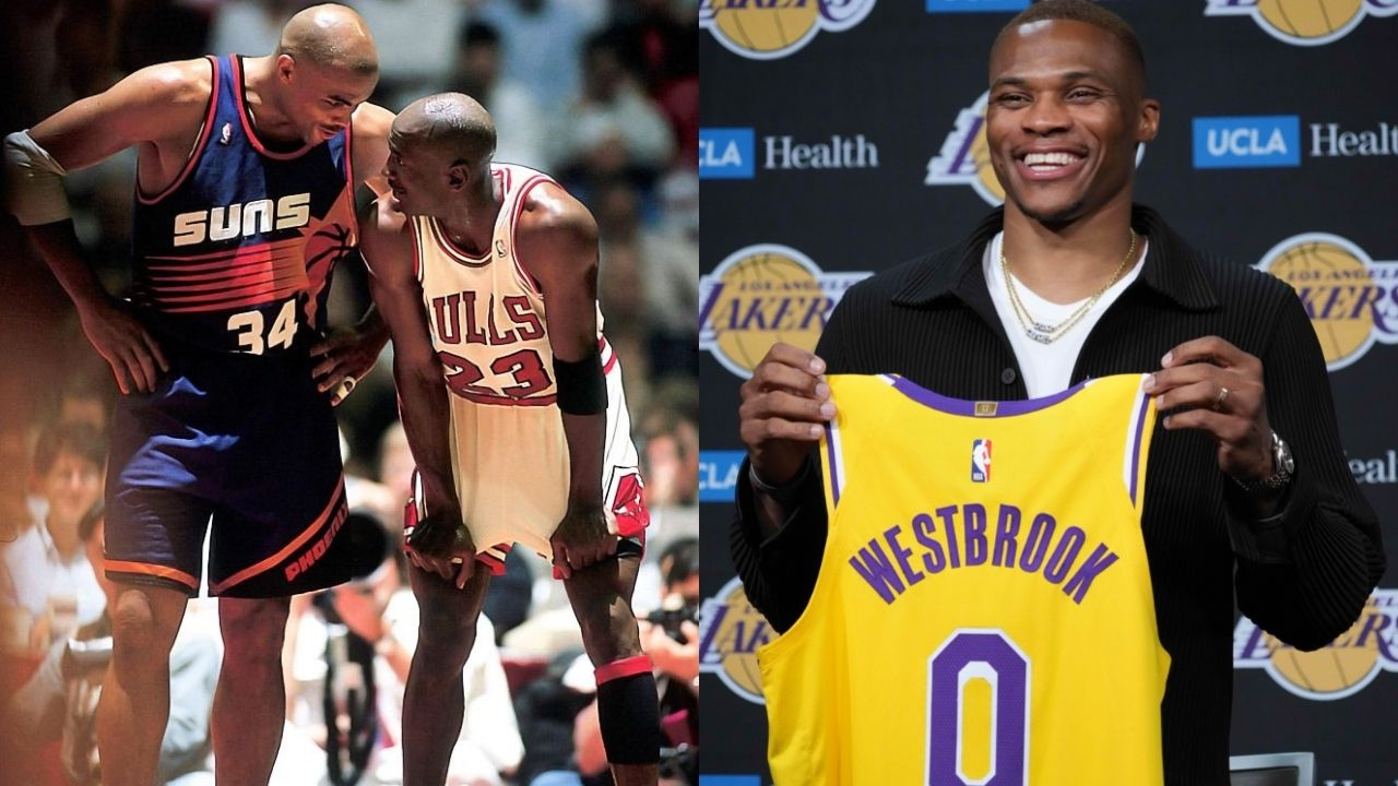 """""""Michael Jordan didn't play as hard as Russell Westbrook"""": Charles Barkley shockingly takes the Lakers star over the Bulls legend in terms of effort"""