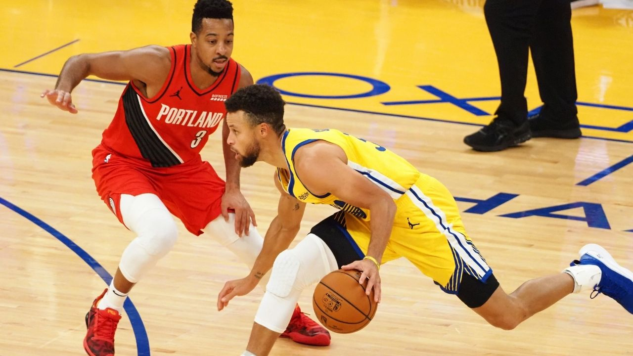"""""""Stephen Curry hits some of the toughest shots you've ever seen"""": CJ McCollum gives the Warriors MVP some huge compliments while talking about his shot selections"""