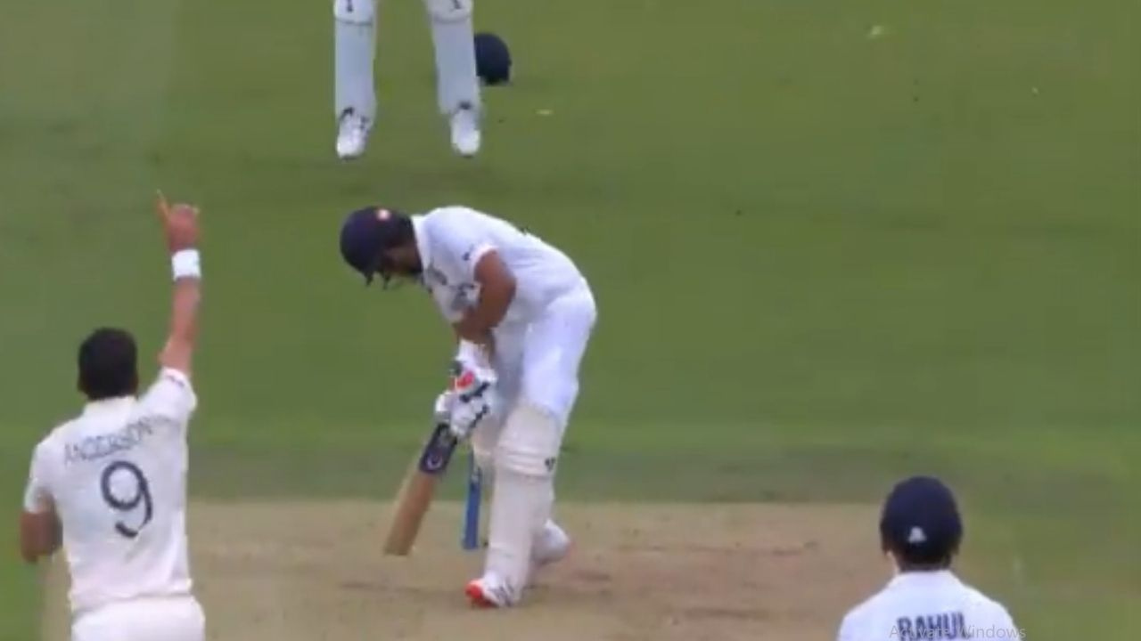 Rohit Sharma wicket today: James Anderson stands tall to draw first blood for England in Lord's Test