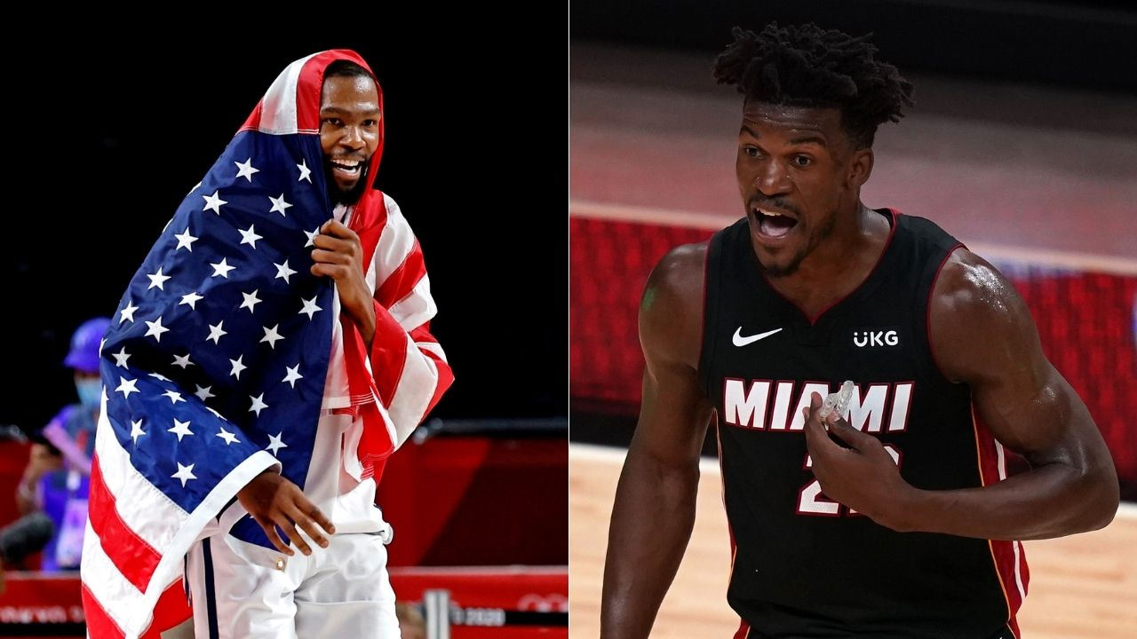 """""""Jimmy Butler has a higher net income than Kevin Durant for 4 years"""": NBA fan calculates taxes for Nets and Heat superstars while taking shots at Dennis Schroder"""