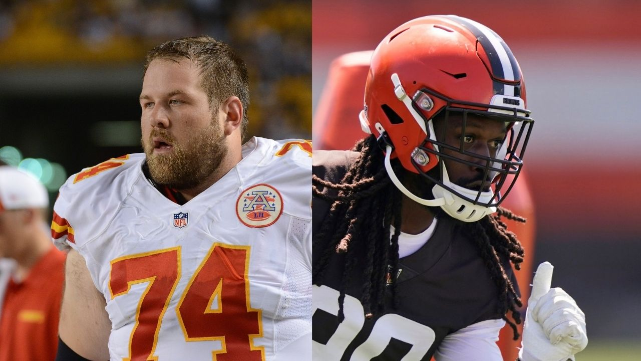 """""""Guards love matching up with Brown DE who is averaging 1.5 sacks over his last two seasons"""" Geoff Schwartz roasts Jadeveon Clowney and his """"guards are unathletic"""" comment"""