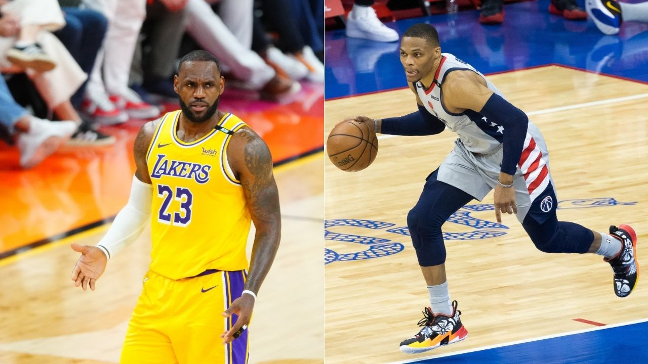 """""""LeBron James, Anthony Davis and Russell Westbrook can be productive without the ball"""": Kenny Smith questions whether Kevin Durant's Nets Big 3 can mesh as well as the Lakers' Big 3"""
