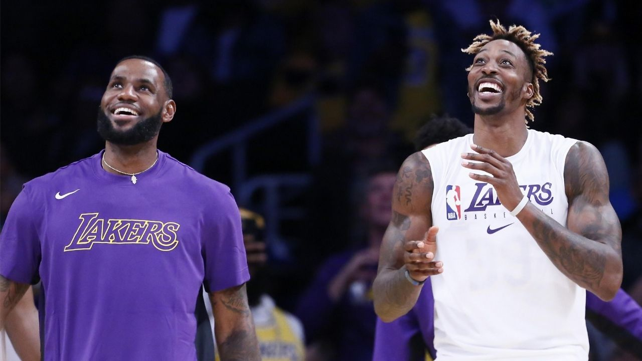 """""""You can tell LeBron James, that boy got some money!"""": Dwight Howard reveals LBJ's superstar privileges' as he gives us a tour inside the Lakers' locker room"""