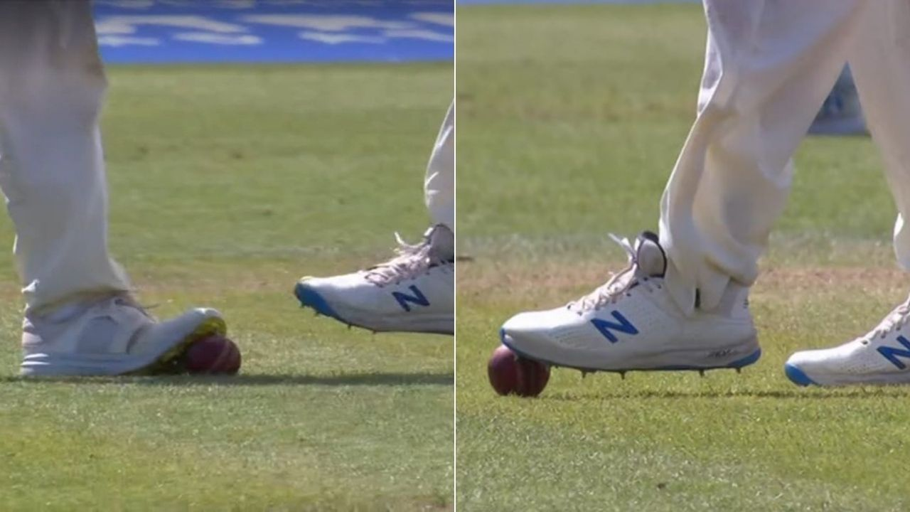 Ball Tampering video Lord's: Twitterati accuse English fielder of ball tampering as visuals of stepping on the ball with spikes go viral