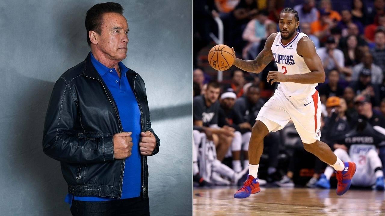 """Arnold Schwarzenegger calls Kawhi Leonard the Terminator!"": Clippers superstar shot a promo with the former California governor for his 'Terminator' movie"