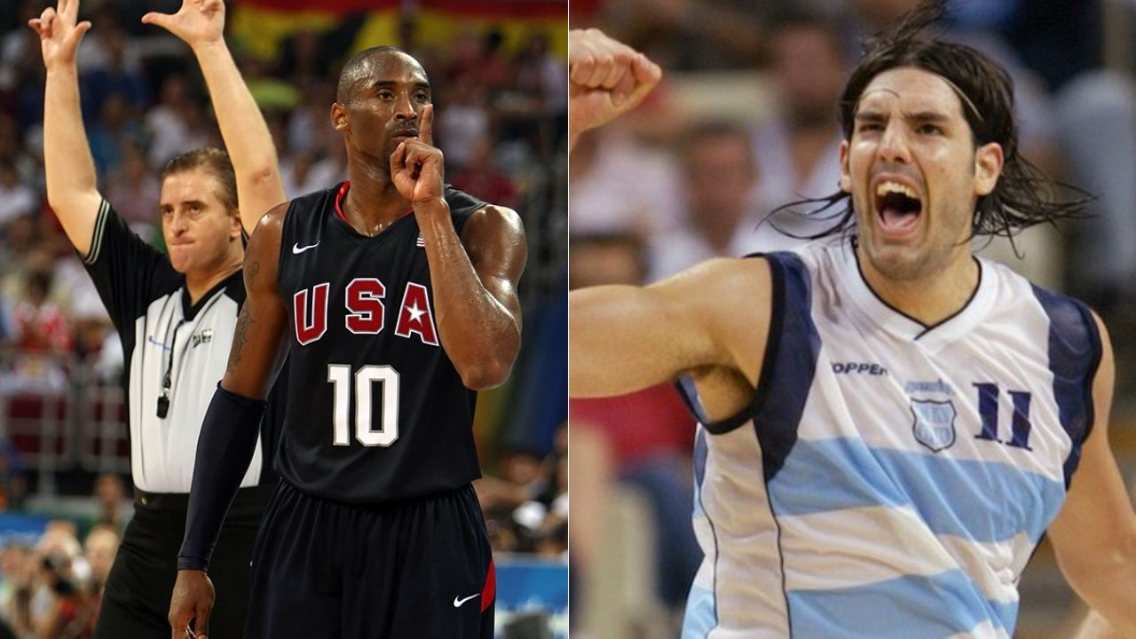 """""""Imma show you what language I speak in"""": When Kobe Bryant talked trash to Argentina's Luis Scola in fluent Spanish at the Beijing 2008 Olympic Games"""