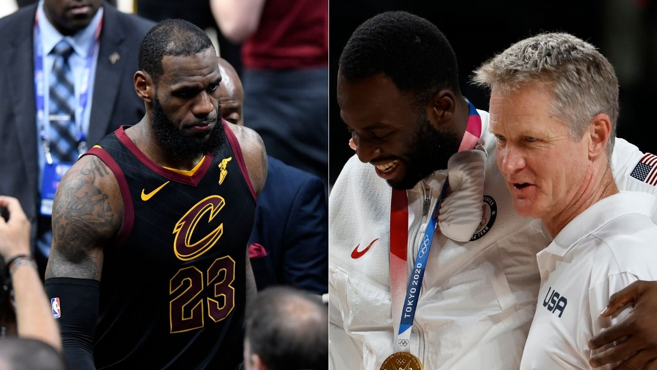 """""""LeBron James should've got a standing ovation for that!"""": Draymond Green and Steve Kerr react to then-Cavs star's interview where he recalled how Celtics blew them out in Game 1 of 2018 ECF"""