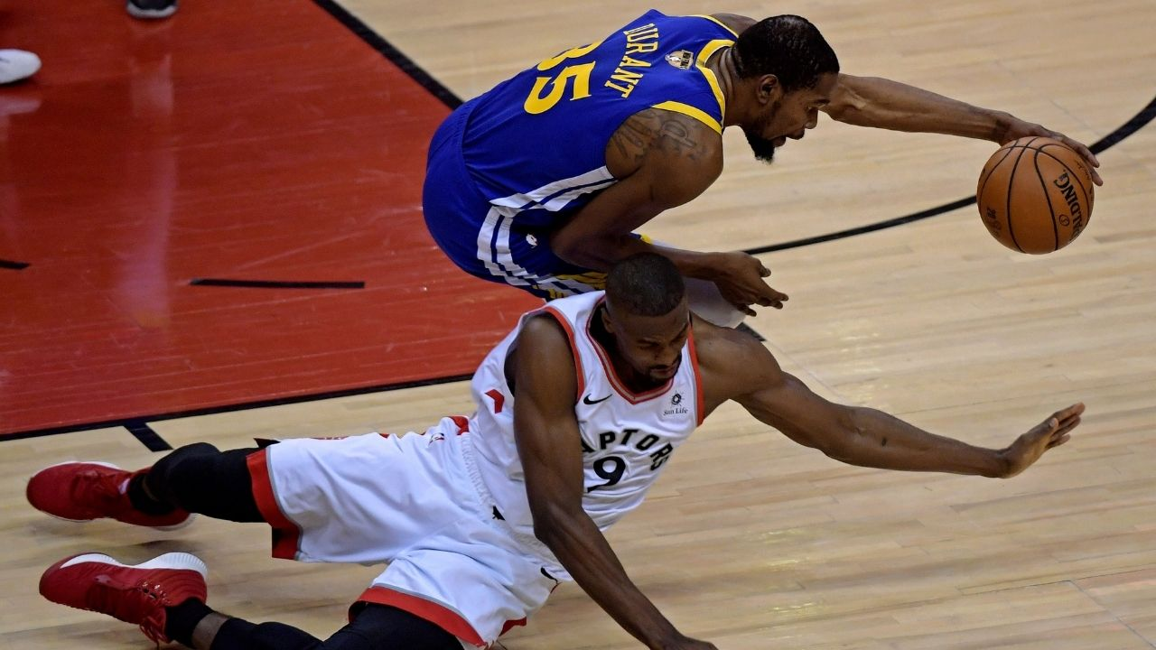 """""""My whole basketball life flashed back"""": Kevin Durant describes how his ACL tear felt on Serge Ibaka's 'How Hungry are you?' while eating snake"""