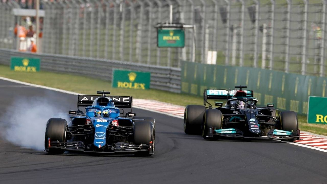 """""""I knew that every lap I could hold him""""– Fernando Alonso uses TV scree to hold Lewis Hamilton in Hungary"""