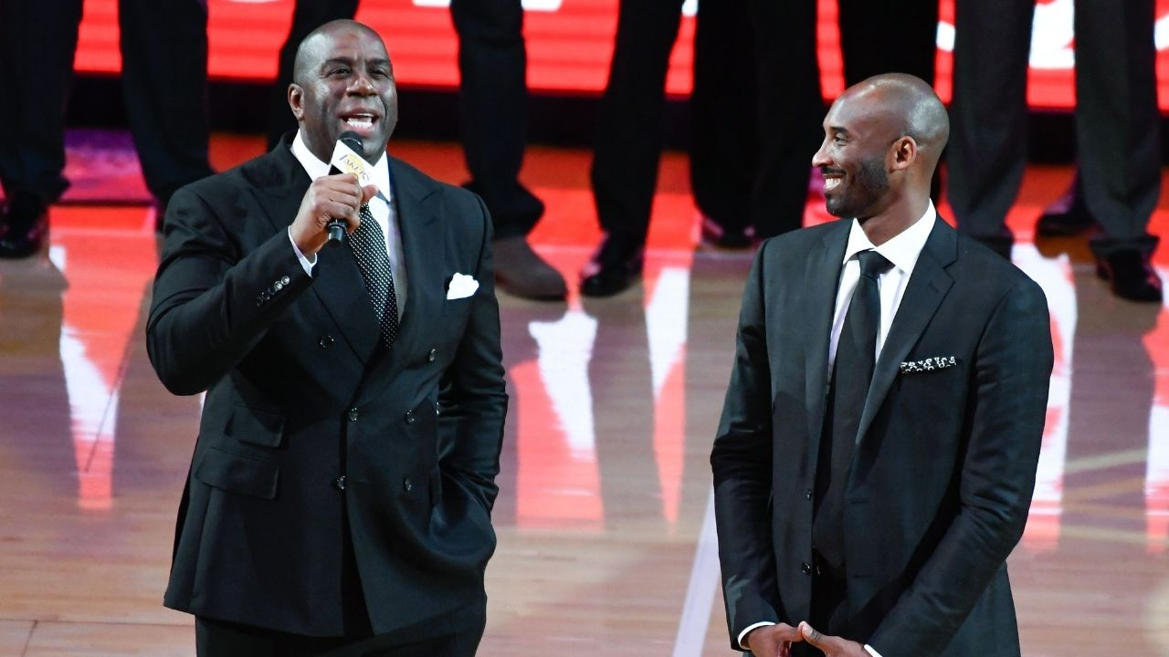 """""""I move left, then right, then dunk on you"""": When Kobe Bryant trash talked Magic Johnson on the Lakers legend's ill-fated talk show called 'The Magic Hour'"""