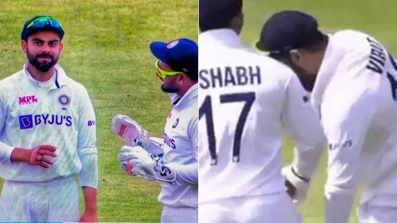 Kohli touches Pant's feet: Virat Kohli and Rishabh Pant register hilarious emotions during Zac Crawley dismissal in Nottingham Test