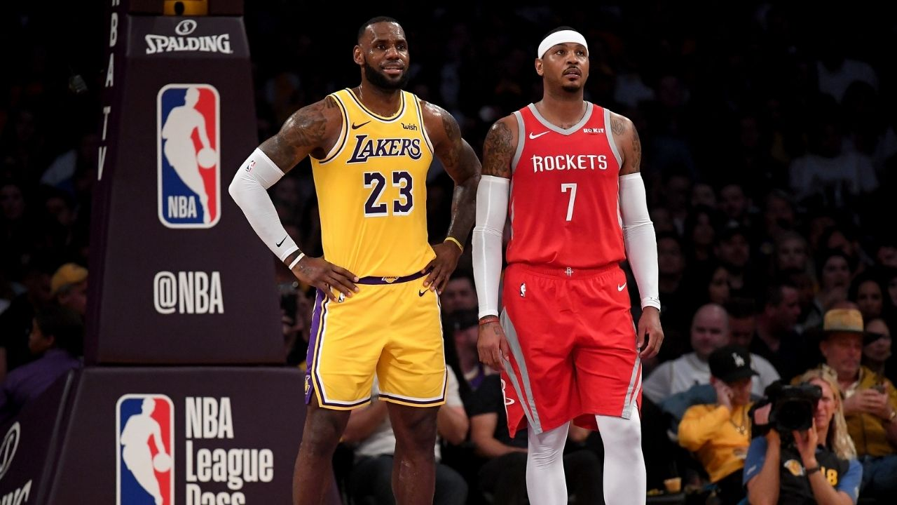 """""""LeBron James, you're the Lakers GM"""": Carmelo Anthony hilariously explains how 'The King' lured him to Los Angeles"""