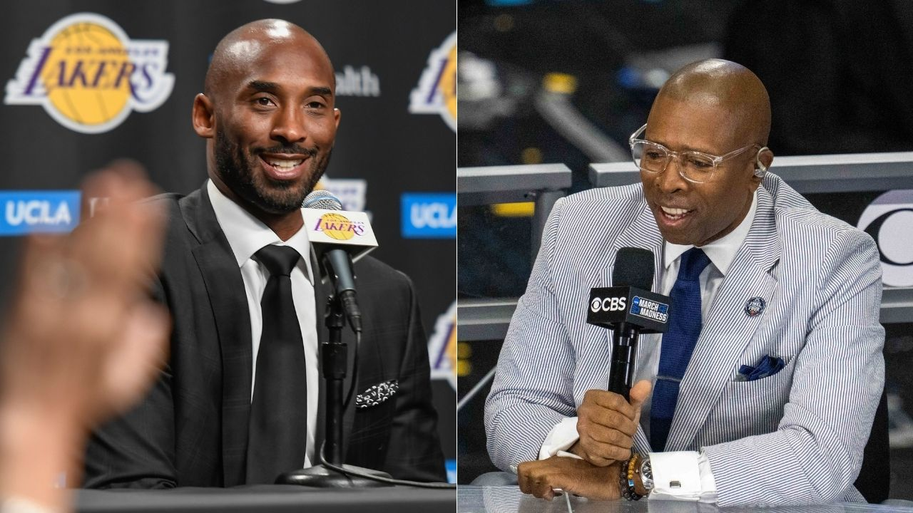 """""""I'm jumping over this Aston Martin"""": When Kenny Smith parodied himself by trying to copy Kobe Bryant jumping over an onrushing car for Zoom Kobe 4 shoe commercial"""
