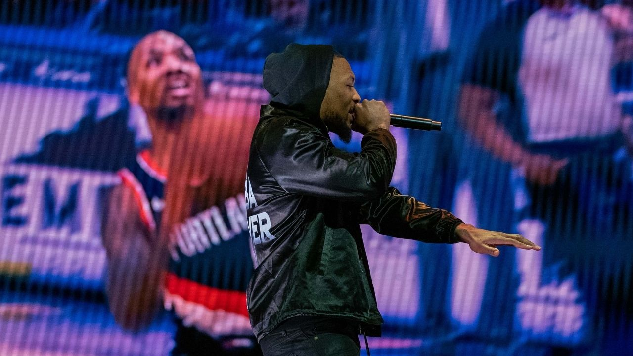 """""""You did not hear me say this weak a** line"""": Damian Lillard hilariously calls out a fan for claiming the Blazers superstar rapped about Chris Haynes on an album"""
