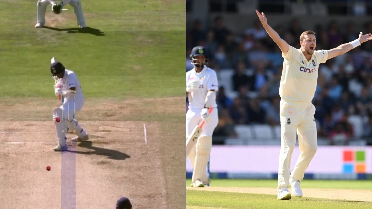 Pujara out today video: Cheteshwar Pujara shoulders arms to leave an incoming delivery from Ollie Robinson in Leeds Test