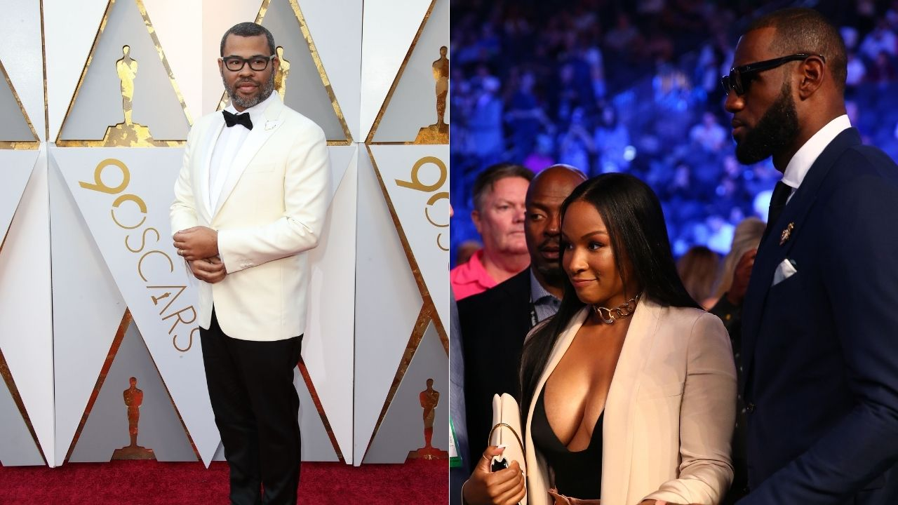 """""""Savannah James and LeBron hold 'Candyman' screenings"""": Lakers superstar and his wife support comedian Jordan Peele with publicity for his new horror-thriller"""