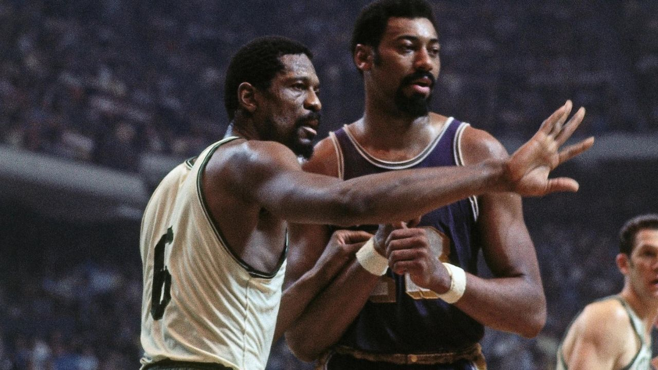 """""""Bill Russell would come to my house and sleep on my bed"""": When Wilt Chamberlain dismissed any notion of an off-court rivalry with the Celtics legend"""