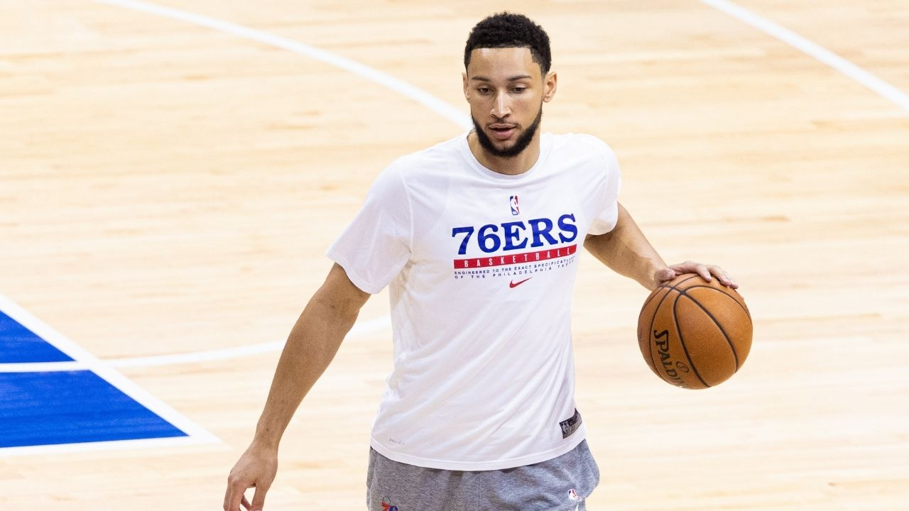 """""""Y'all still falling for this s*it?!"""": NBA Twitter boos as Ben Simmons releases yet another offseason video of him shooting threes"""