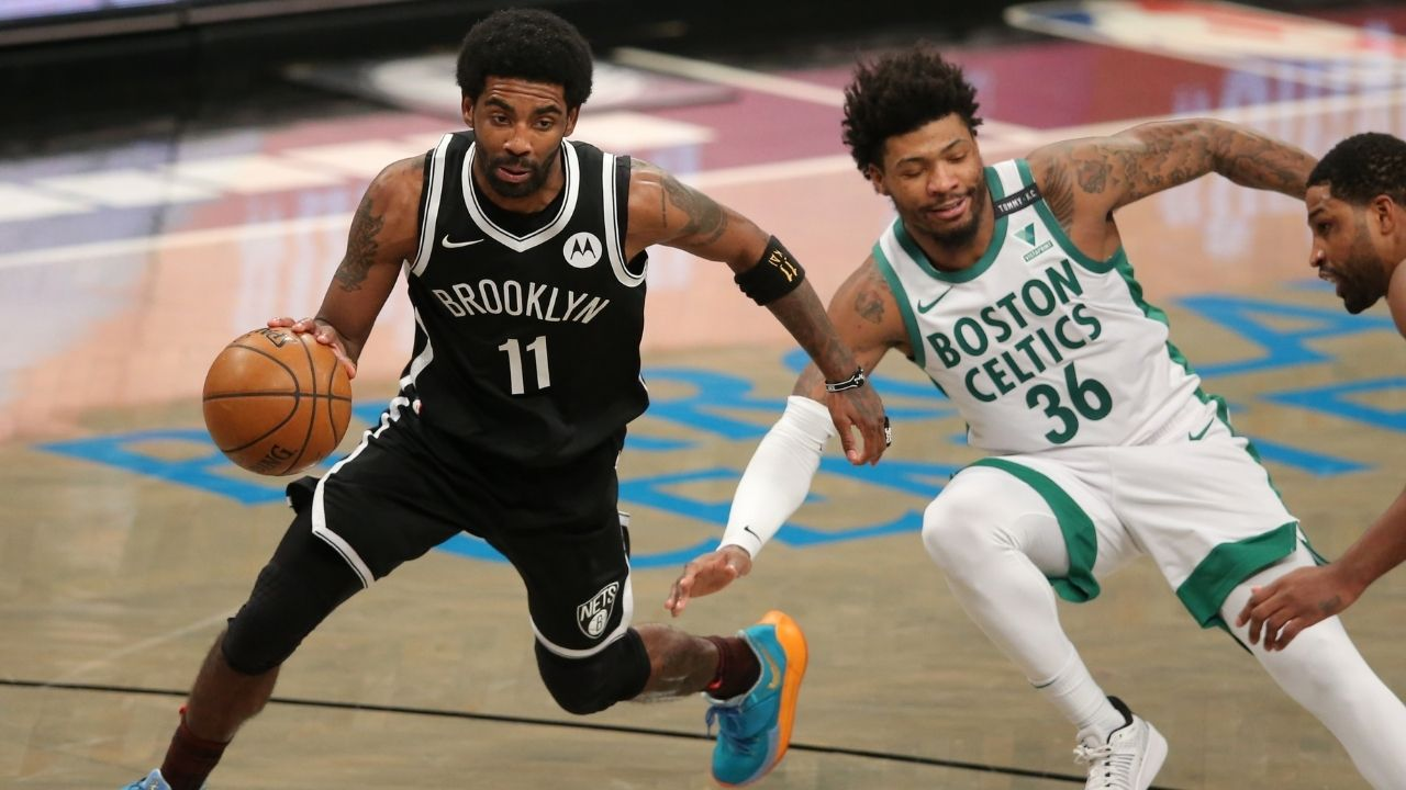 """""""Kyrie Irving has always got the ball on a string, never too wide, never too tight"""": Marcus Smart elucidates what makes the Nets superstar one of his 5 toughest players to guard"""