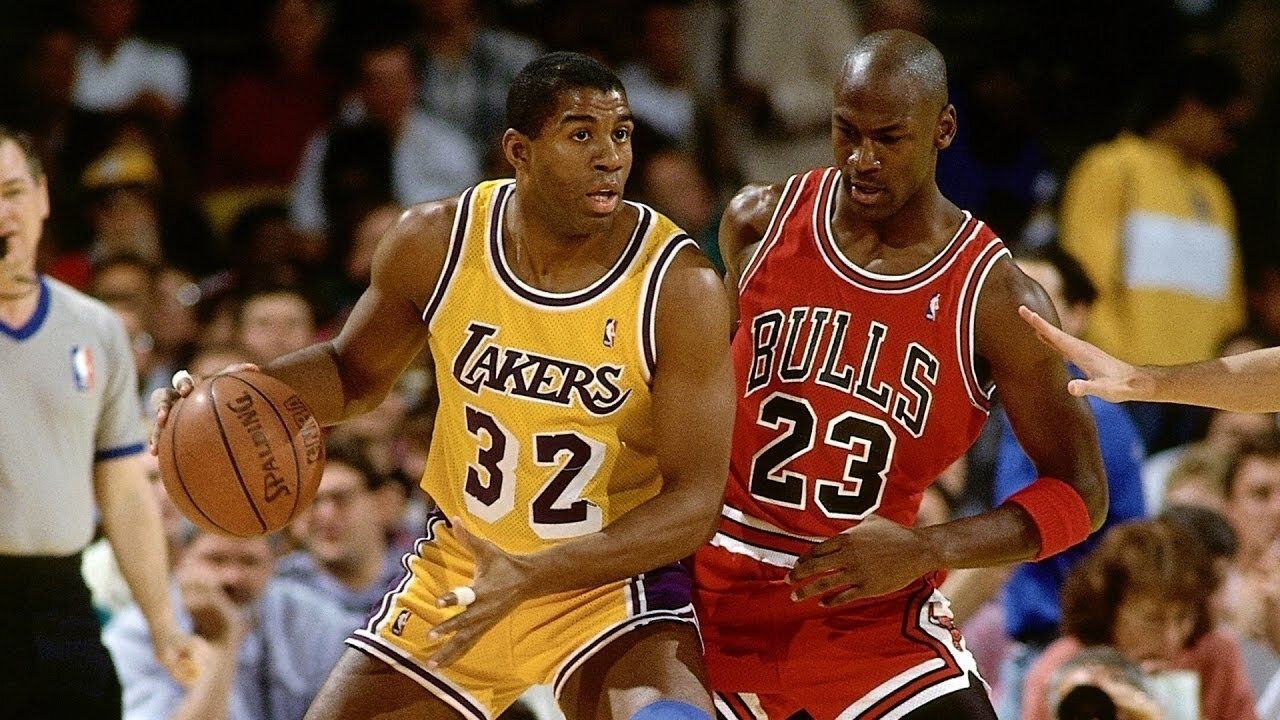 """""""Hey Magic Johnson, you want to win this?"""": A competitive Michael Jordan called out Lakers legend for his casual demeanor during a charity game"""