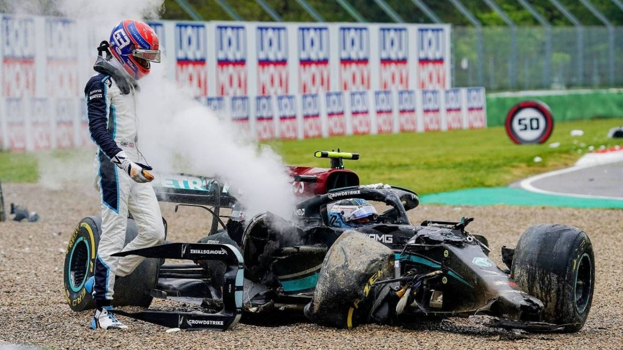 """""""I can laugh about it now""""– Valtteri Bottas finds funny side to Imola crash with George Russell"""
