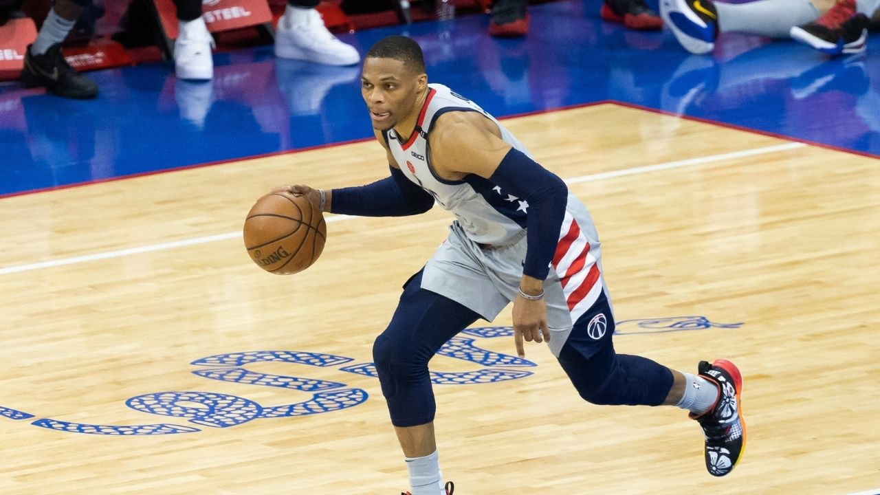 """""""Russell Westbrook, you can't fool us like Ben Simmons does"""": Lakers' star can't catch a break, despite making 11 deep 3-pointers in a row"""