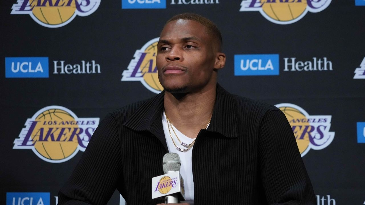 """""""Russell Westbrook will beat you're a** with a skirt on"""": Celebrities and NBA fans react to the Lakers superstar quoting Kendrick Lamar while indulging in some flamboyant attire"""