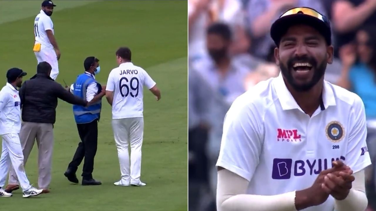 Jarvo 69: Fan with Indian jersey enters playing area at Lord's; Mohammed Siraj and Ravindra Jadeja can't stop laughing
