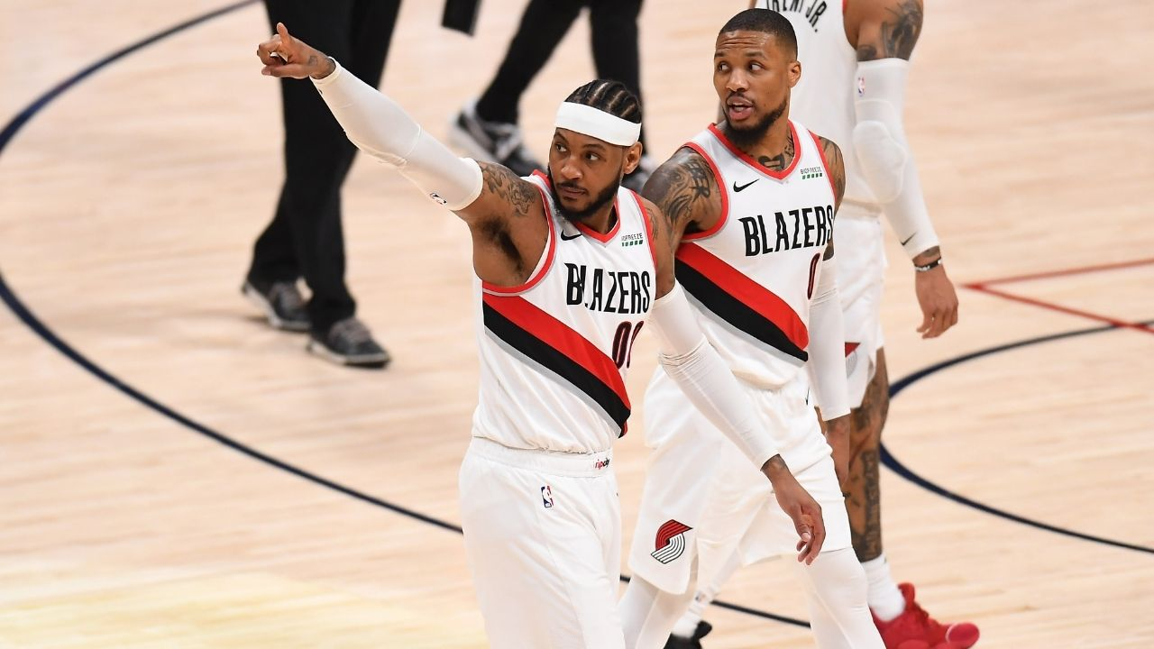 """""""If you were loyal to Damian Lillard then why did you join forces with LeBron James?"""": NBA fans react to Carmelo Anthony praising the Blazers superstar"""