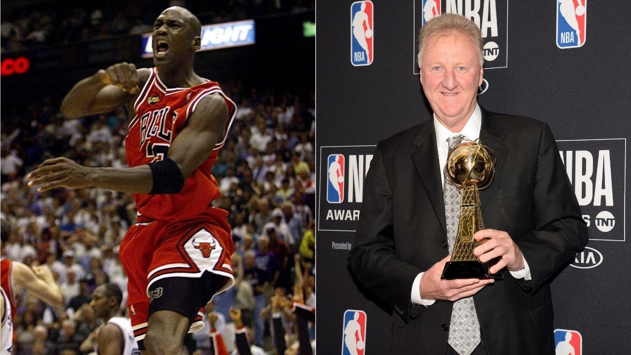 """""""Larry Bird could provide me with his demeanor, work ethic and versatility"""": Michael Jordan explains the Boston legend's pick as the starting Power Forward of his Dream Team"""