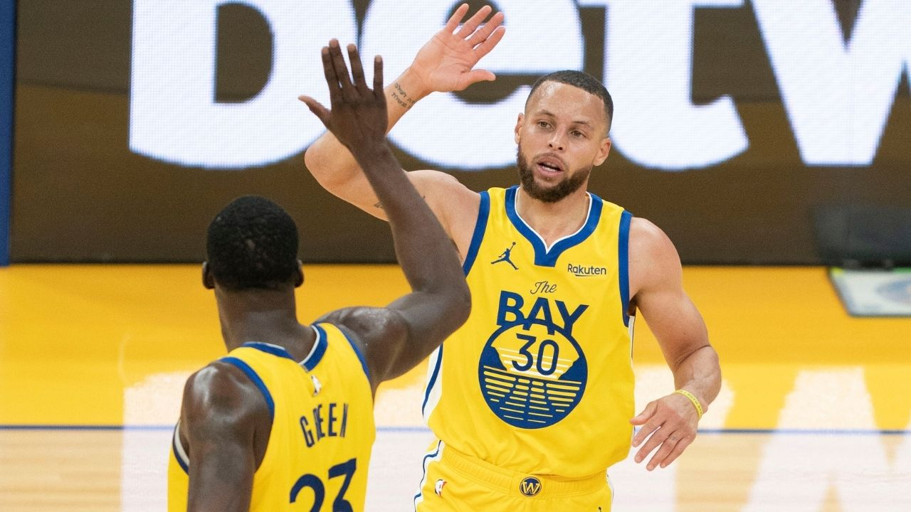 """""""Steph Curry with $200 million more on that a**!"""": Draymond Green puts up a hilarious picture of the Warriors MVP following historic contract extension"""