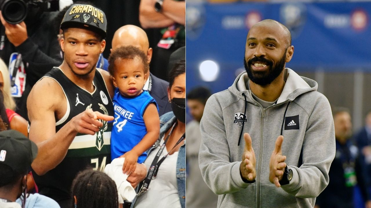 """""""Thierry Henry was my idol, I wanted to be like him so bad"""": Giannis Antetokounmpo gushes about Titi after French football legend congratulates 2021 NBA champion"""