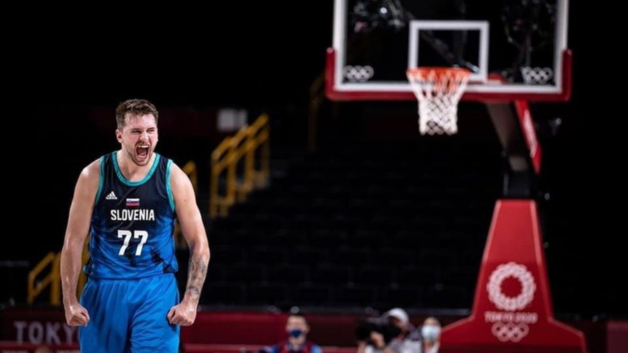 """""""Luka Doncic could face Kevin Durant and co for Olympics gold"""": NBA fans congratulate Slovenian team after beating Spain and setting up potential clash with Team USA"""
