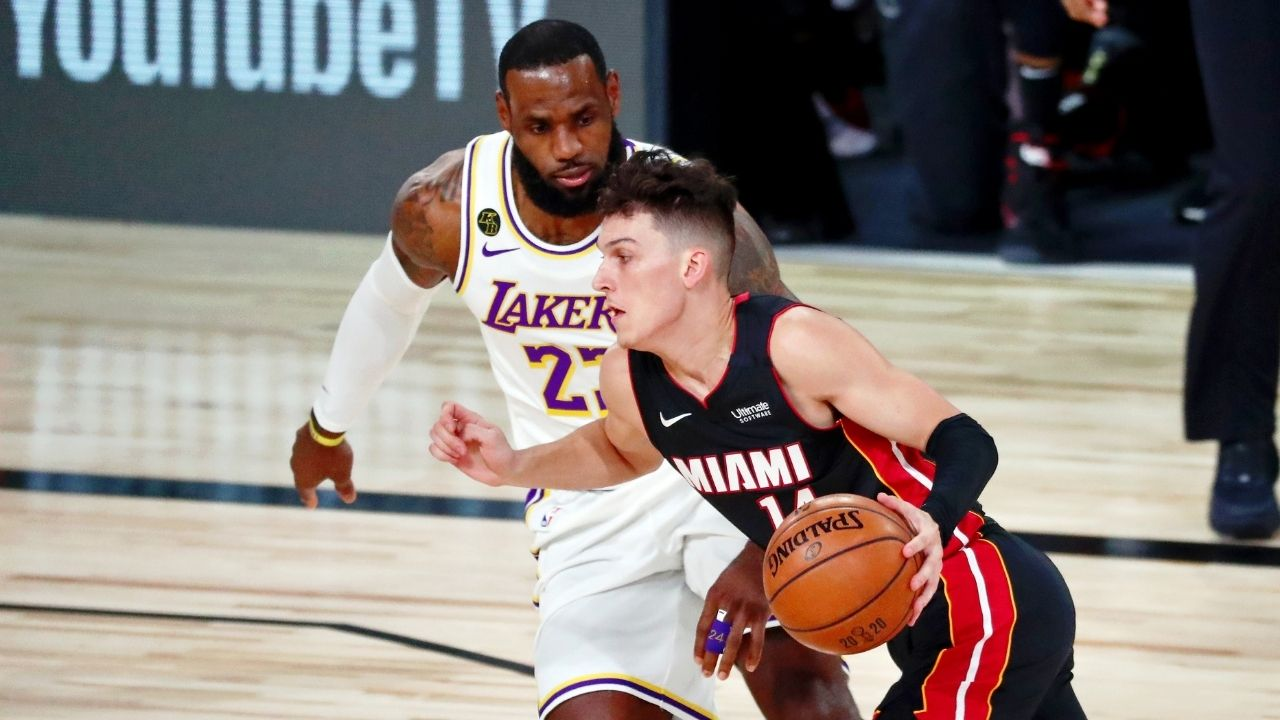"""""""LeBron James is the final boss if the NBA is a game"""": When Tyler Herro gave the Lakers star ultimate praise for his continued excellence as NBA's best player"""