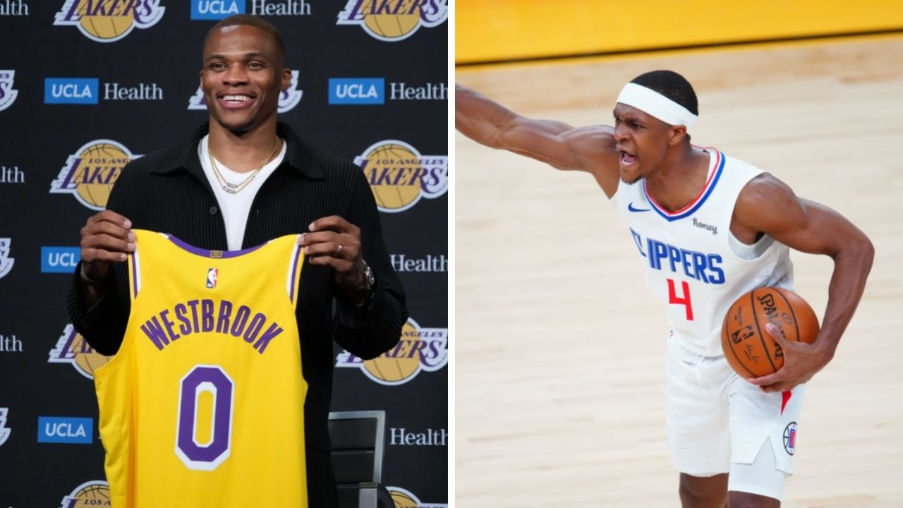 """""""He had no choice but to stop beefing with Russell Westbrook!"""": NBA twitter reacts as Rajon Rondo acknowledges his past with the former Rockets star"""