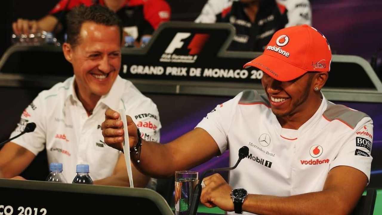 """""""I don't even know what to say""""– Lewis Hamilton makes emotional confession on Michael Schumacher"""