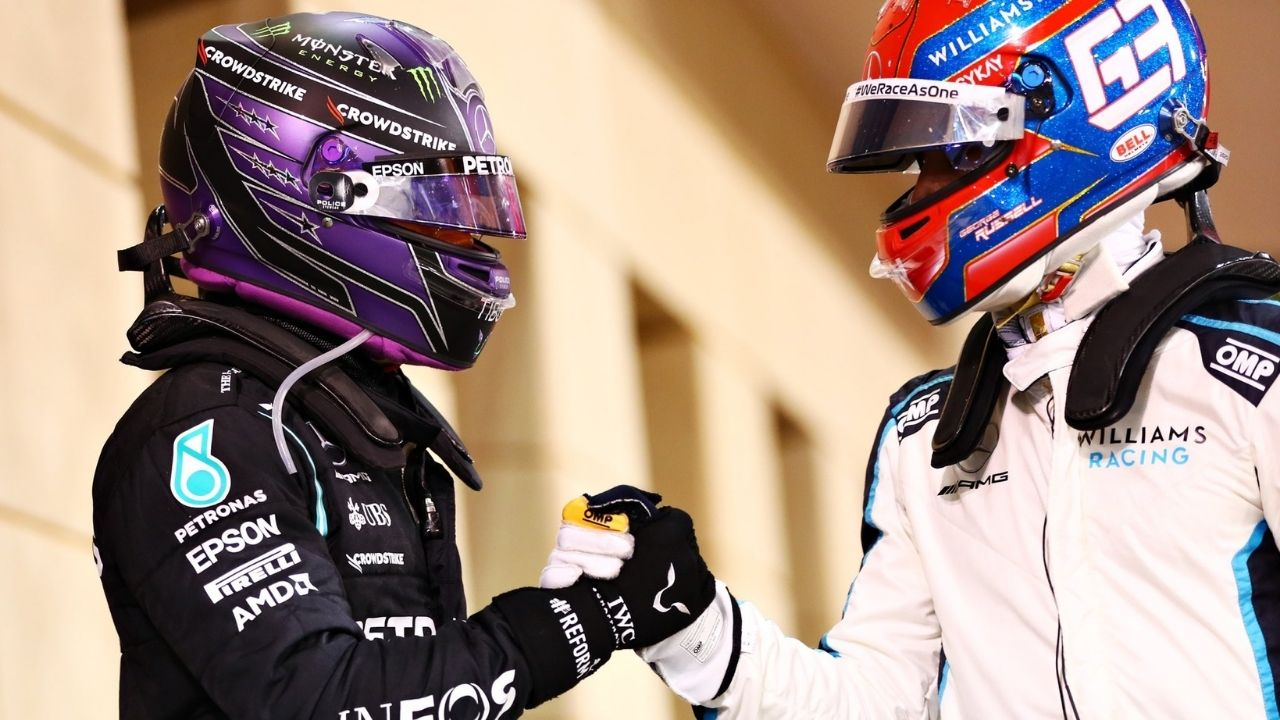 """""""I remember meeting him when he was young""""– Lewis Hamilton welcomes George Russell to Mercedes"""