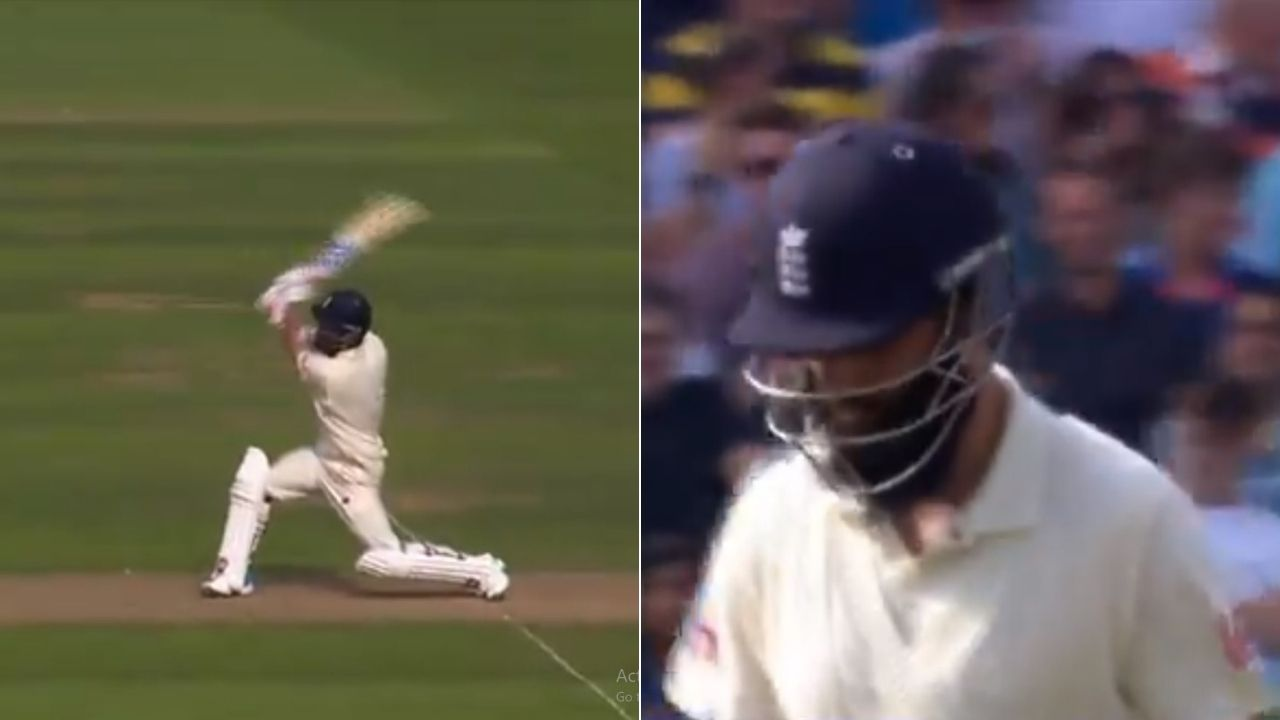 """""""Brain fade moment"""": Moeen Ali plays horrible shot off Ravindra Jadeja to gift his wicket at The Oval"""
