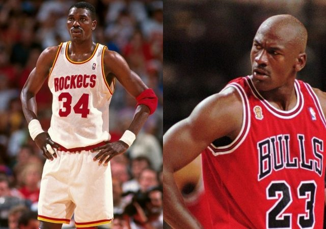 """""""Michael Jordan blocked Hakeem Olajuwon 3 times in the same game"""": How the former Bulls DPOY locked up the Rockets legend in 1991"""