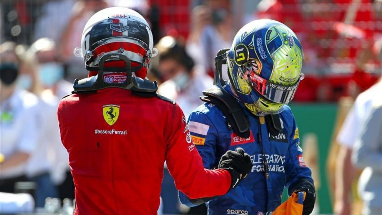 """""""I can imagine what he's feeling""""– Charles Leclerc believes Lando Norris will learn from his debacle in Russia"""