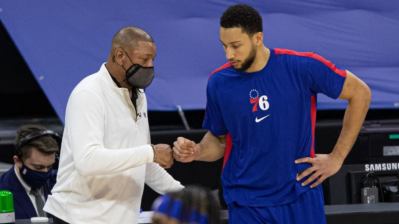 """""""Ben Simmons held Trae Young to 5-of-24 in Game 7"""": Doc Rivers attempt to make case for disgruntled Sixers star to attend training camp and improve instead of sitting out"""