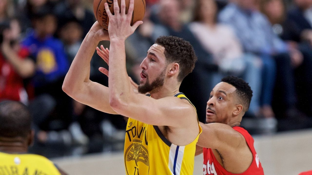 """""""Klay Thompson is the NBA's top scorer without dribbling"""": CJ McCollum gives the GSW sharpshooter some high praises while breaking down his performance from the 2016 season"""