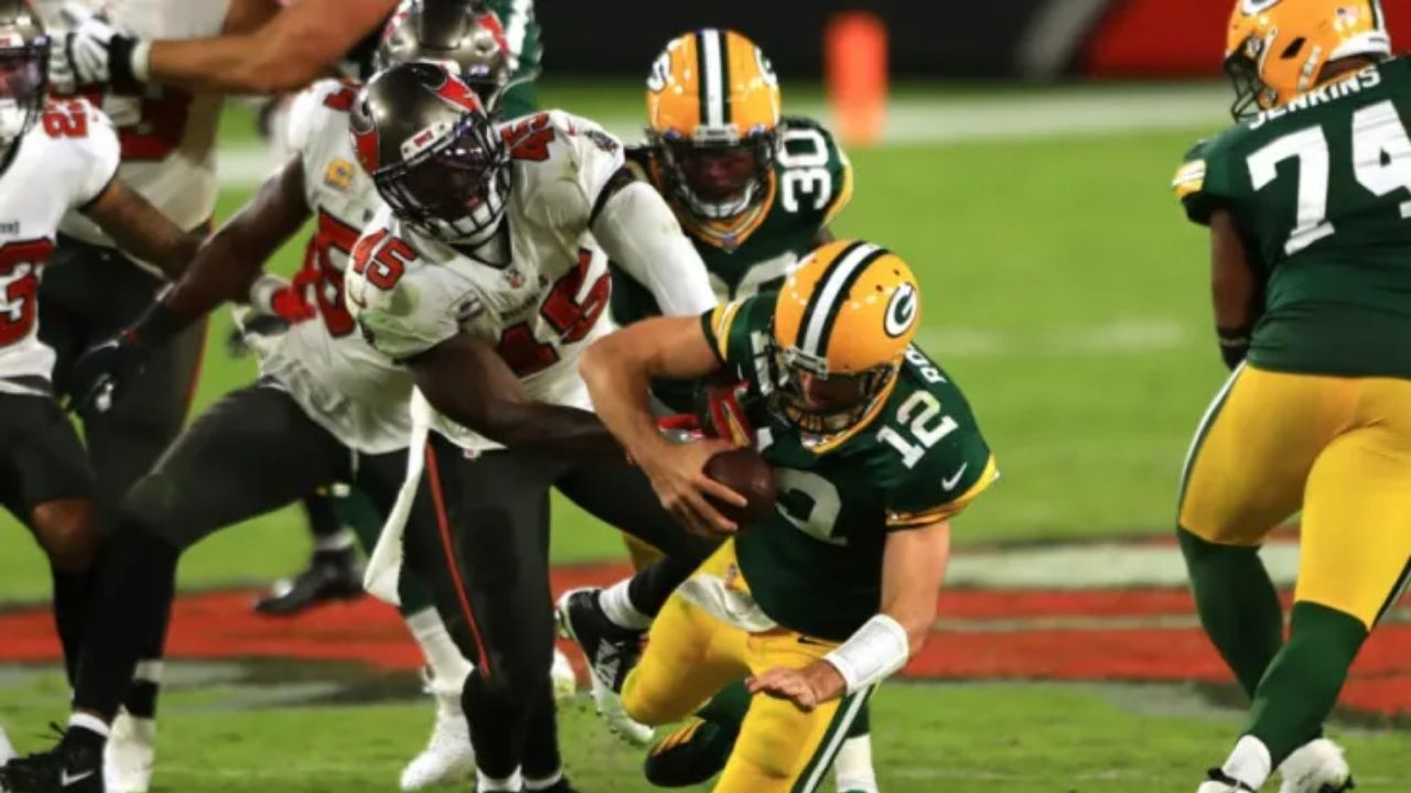 'Do You Think Aaron Rodgers Can Beat Me To The End Zone?': Devin White Is Outraged That NFL Fans Think He Couldn't Have Tackled Packers QB In NFC Conference Championship Game