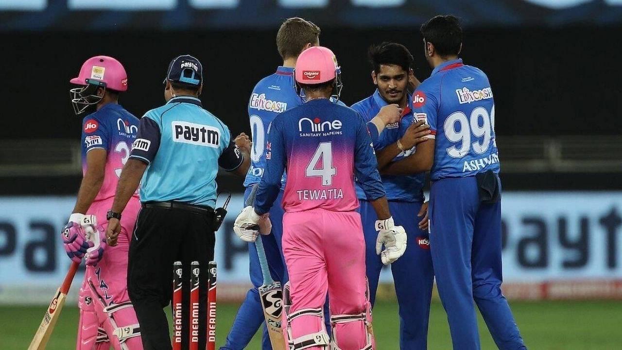 Delhi vs Rajasthan Head to Head Records in IPL   Delhi Capitals vs Rajasthan Royals H2H Stats   IPL 2021 Match 36