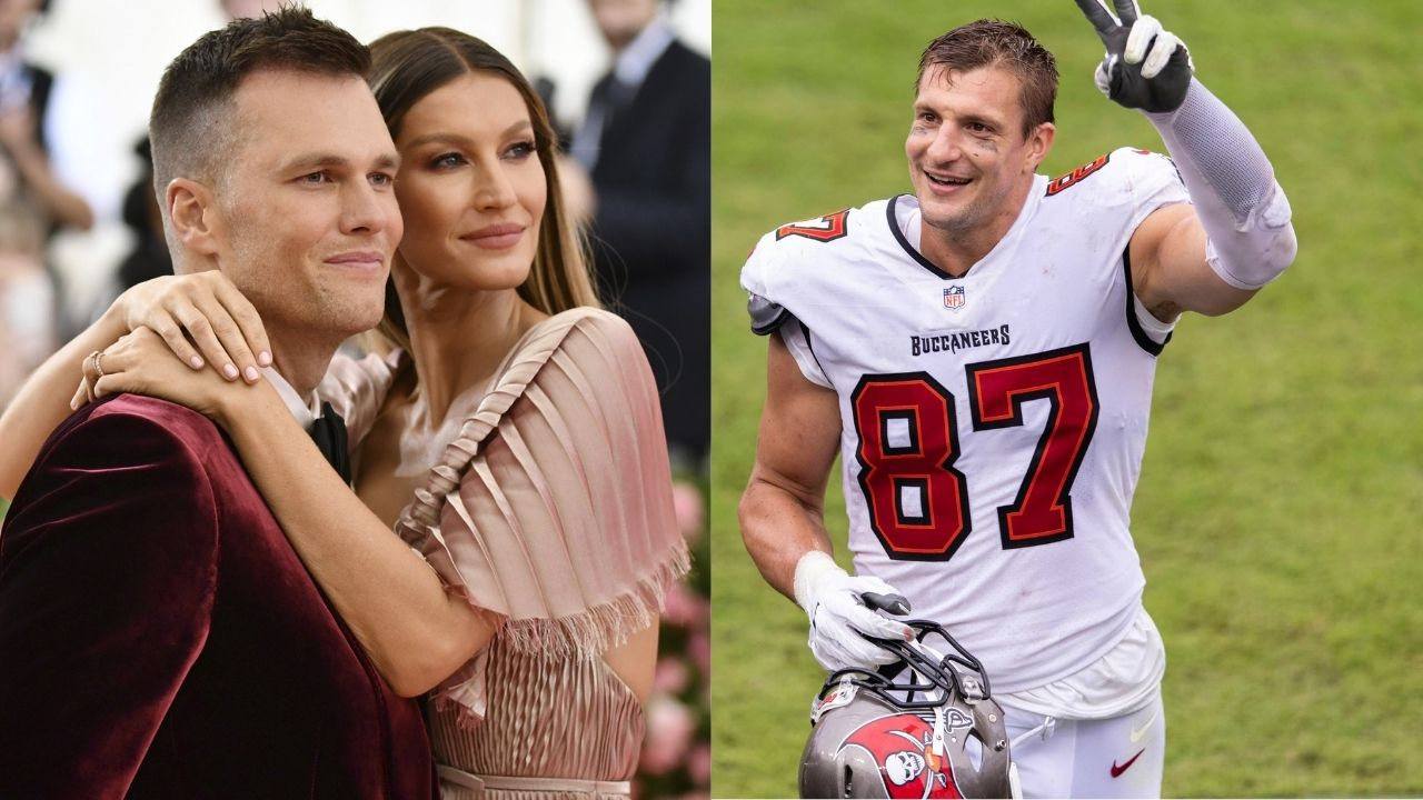 """""""You Must Be Married to Gronk, Not Gisele Bündchen"""": Tom Brady Calls Rob Gronkowski his 'Work Wife' After Google Suggests His TE's Name Before His Wife's"""