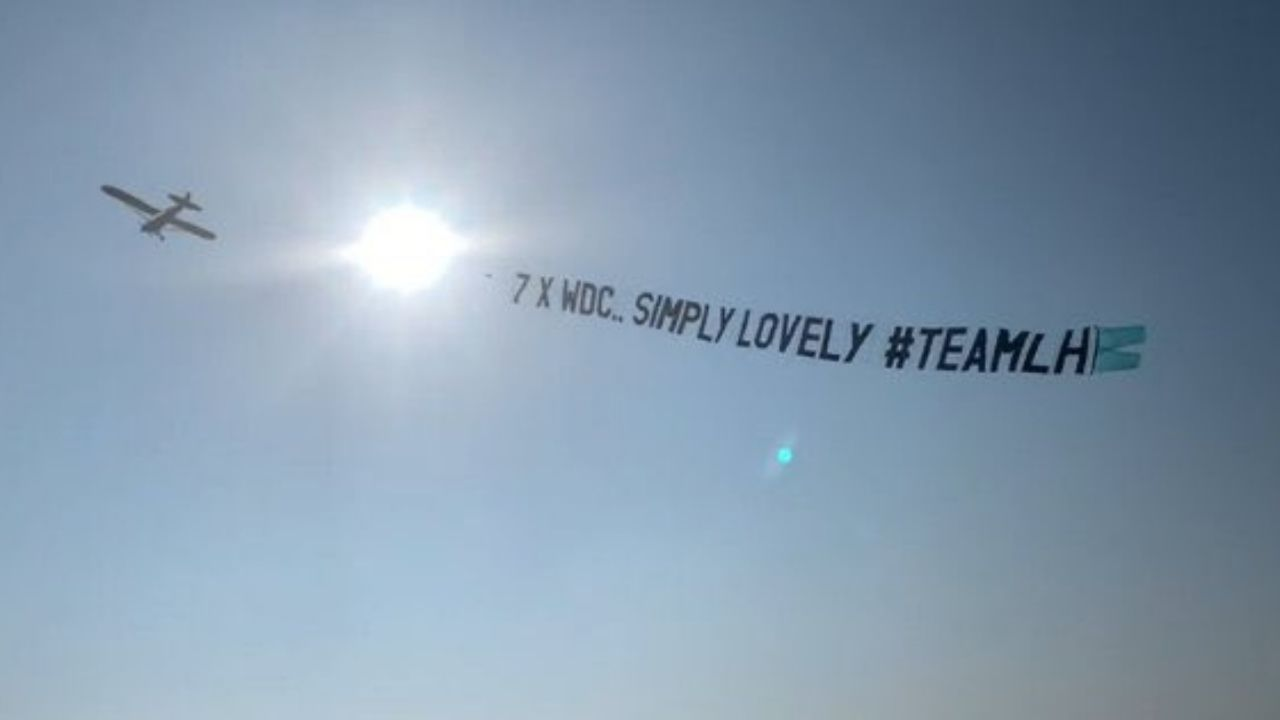"""""""A small way to get one up on the 70,000 Dutch fans""""– Lewis Hamilton fans splashes £1,600 to fly a supportive message at Dutch GP"""