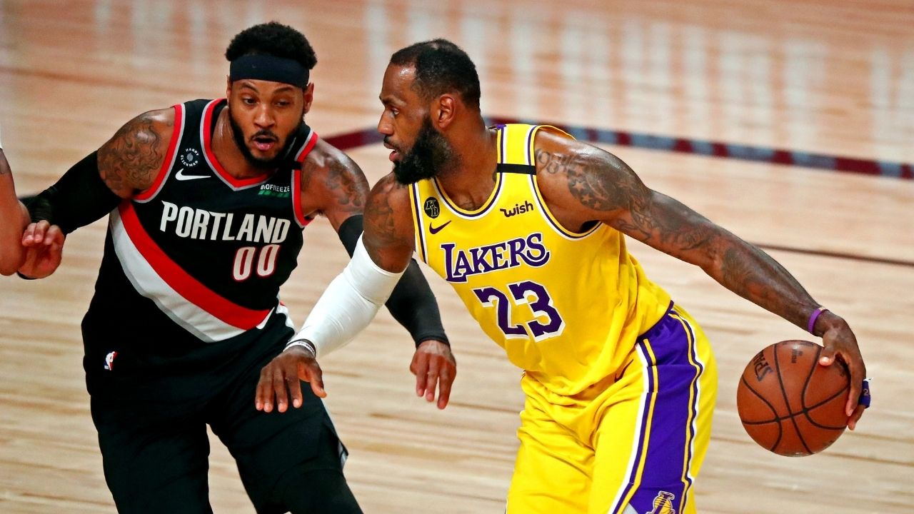 """""""LeBron James should be thanking God for Carmelo Anthony!"""": Stephen A Smith makes an insanely bold prediction about how the former Blazers star will do in a Lakers jersey"""
